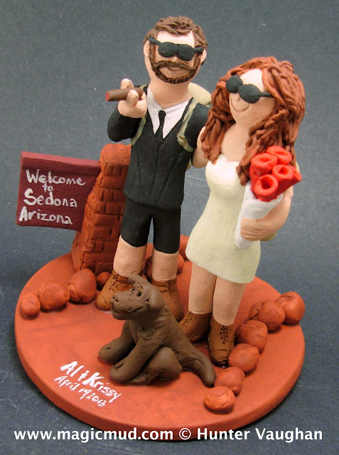 desert theme wedding cake topper