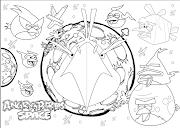 . en blanco y negro de Angry Birds, dibujos para niños de Angry Birds