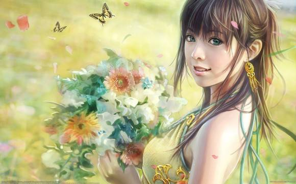 CG Girls Wallpaper I Chen Lin Artwork 06