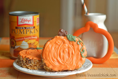 Maple Pumpkin Rice Krispie Treats by The Sweet Chick