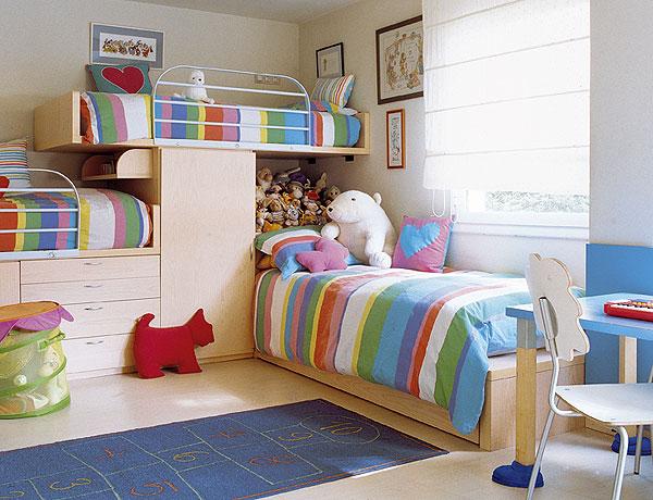 Dormitorio infantil para hermanas dormitorios con estilo - Dormitorios infantiles dos camas ...