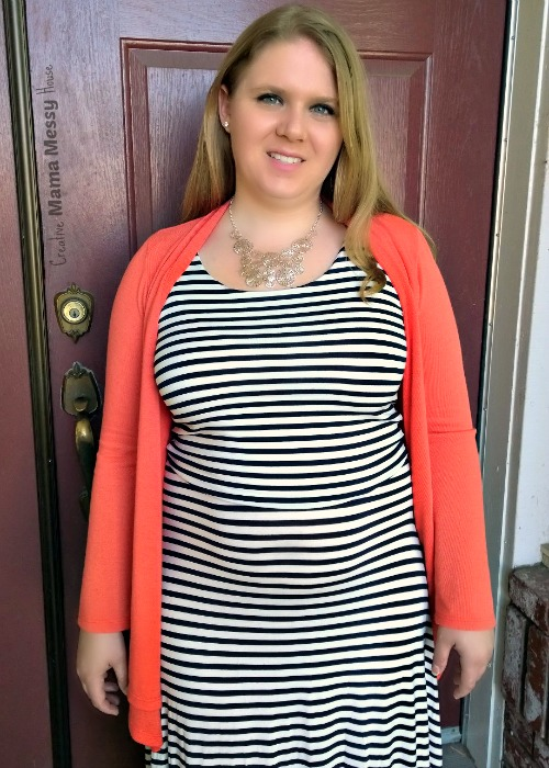 My summer BBQ dress, I love a great striped maxi! Pair with a bright sweater for when the sun goes down. Cheli Striped Maxi Dress, April Stitch Fix review