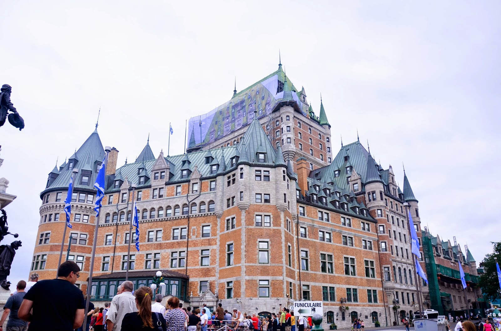 Fairmont Chateau Frontenac in Quebec, Canada, summer travel weekend getaway