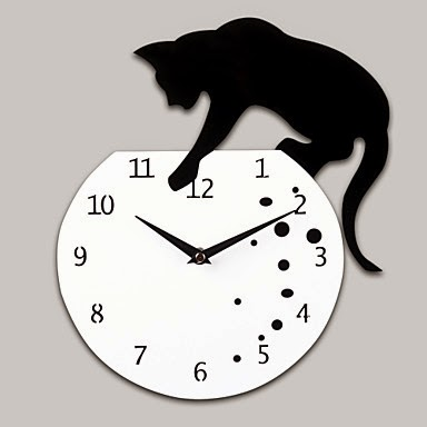 Reloj Gato Pecera