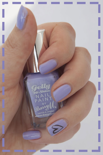 Barry M Gelly Lilac Nail Varnish Heart Decal