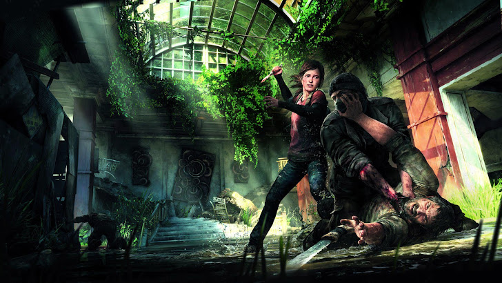 The Last of Us Ellie Joel Fighting