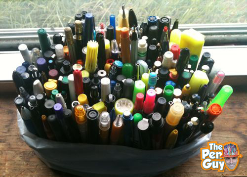Donated used pens from Salt Lake City, Utah