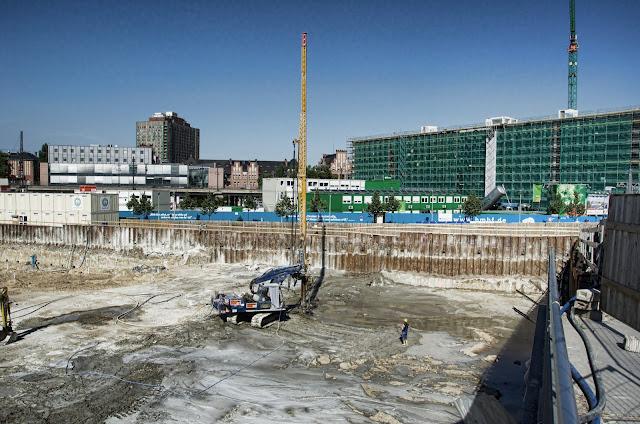 Baustelle HumboldtHafenEins, Das grünste Bürogebäude Berlins!, Alexanderufer / Kapelle-Ufer, 10117 Berlin, 09.07.2013