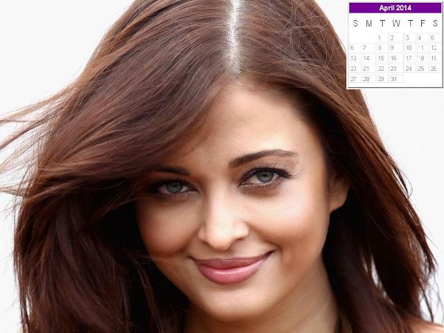 Aishwarya Rai Calendar 2014