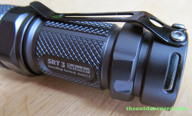 Nitecore SRT3 Defender EDC Flashlight: Side View Of Clip