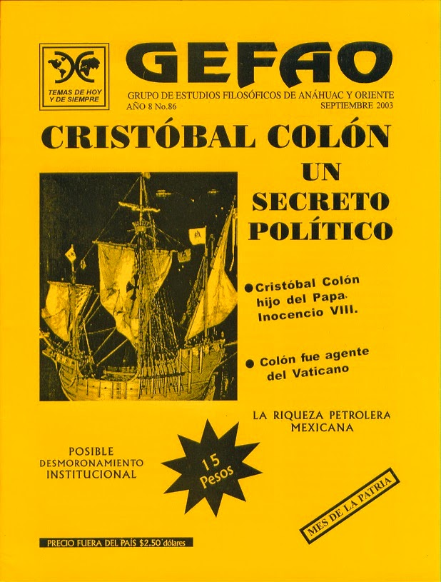 Revista GEFAO No. 86 CRISTOBAL COLON UN SECRETO POLITICO