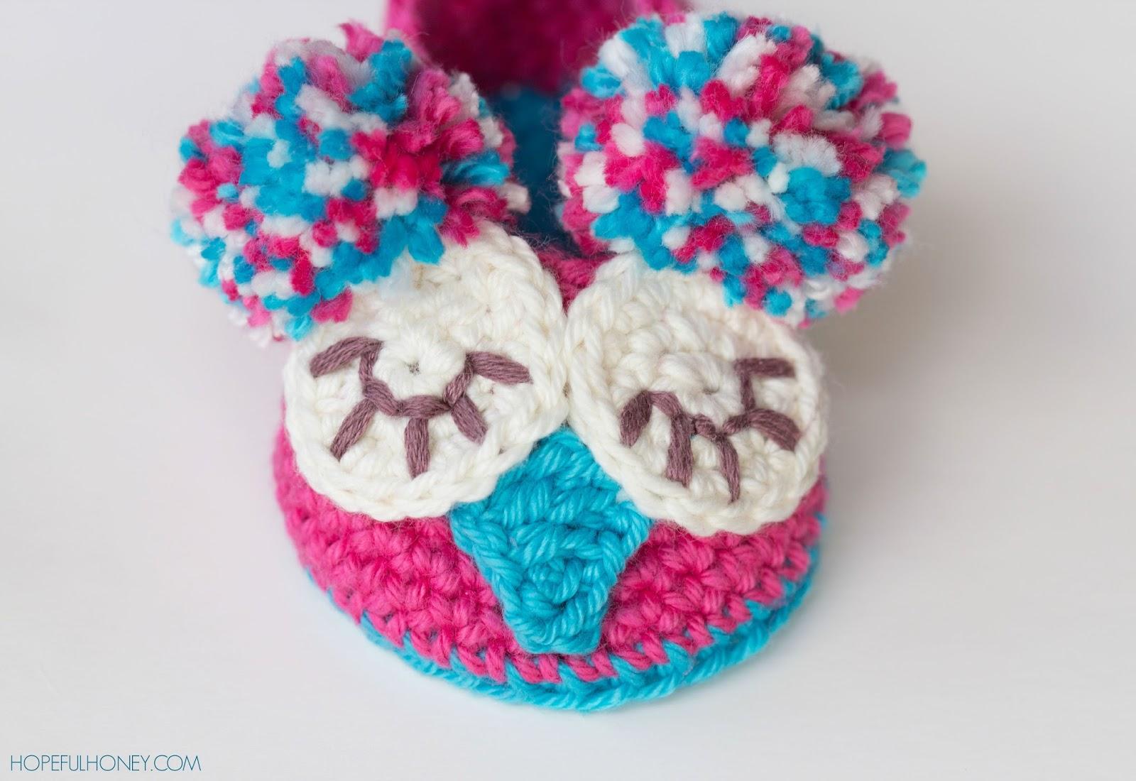 Baby Owl Booties Crochet Pattern Free : Free Owl Crochet Baby Booties Pattern