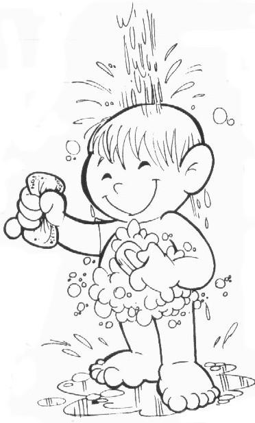 atividades para colorir desenhos de higiene corporal e bucal para