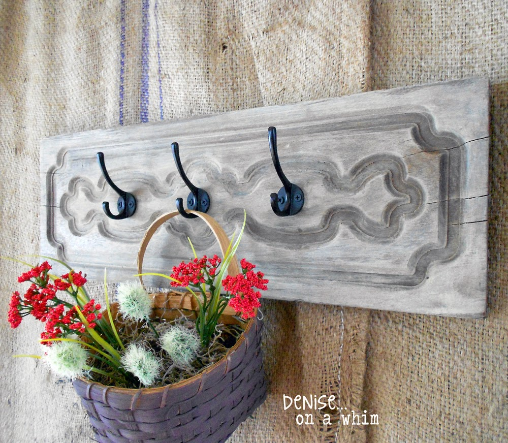 Hook Board from Salvaged Drawer Front via http://deniseonawhim.blogspot.com