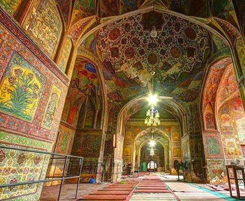 Inside Beauty of Wazir Khan Mosque Lahore Pakistan