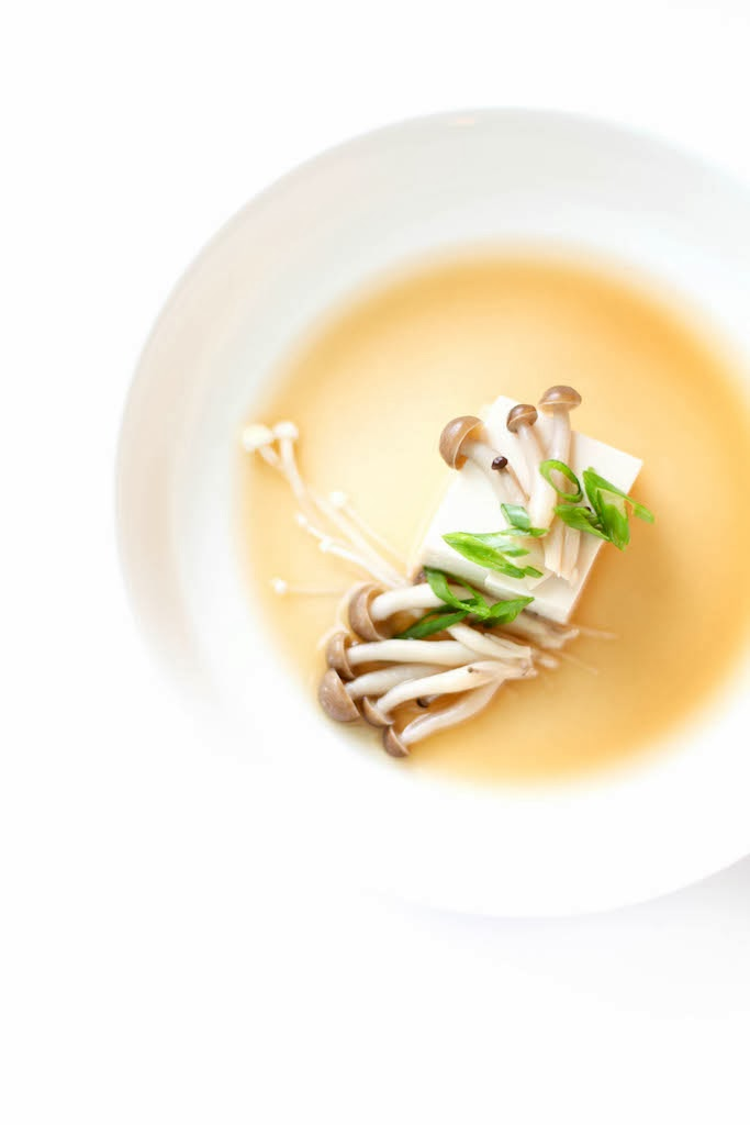 Silken Tofu with Dashi | via Chandara Creative