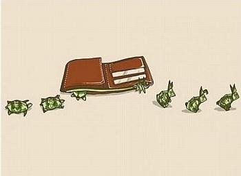 pieniądze, ucieczka, zając, żółw