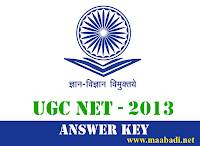 CSIR UGC NET Exam December 2013 Answer Key