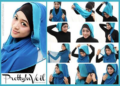 Cara Memakai Jilbab TwoFaces 2