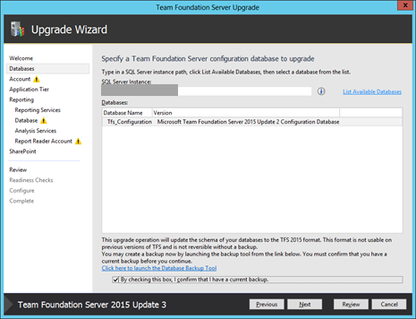 Notes de publication de Team Foundation Server 2017 Update