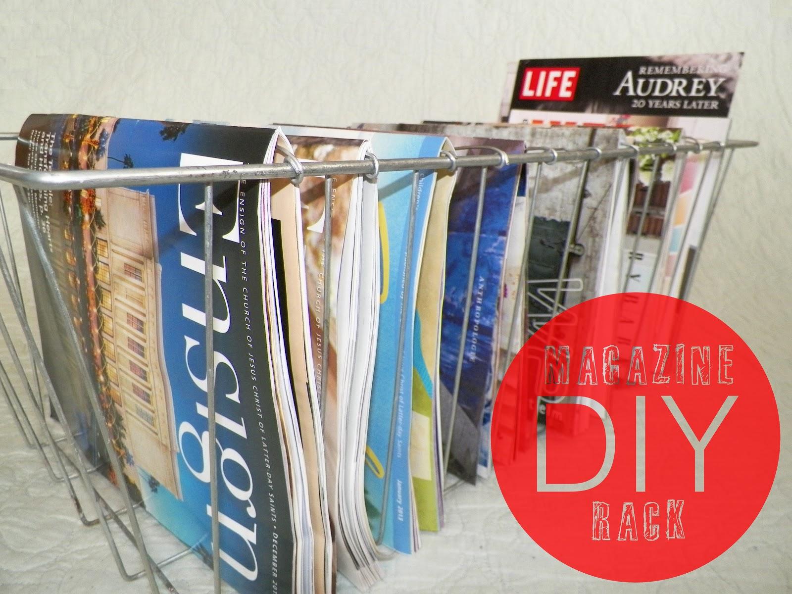 DIY Magazine Rack Tutorial Elizabeth Ave