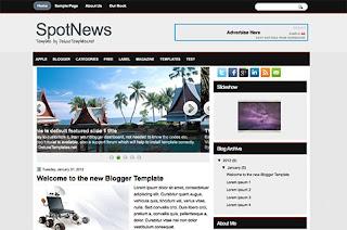 spot news blogger templates free download