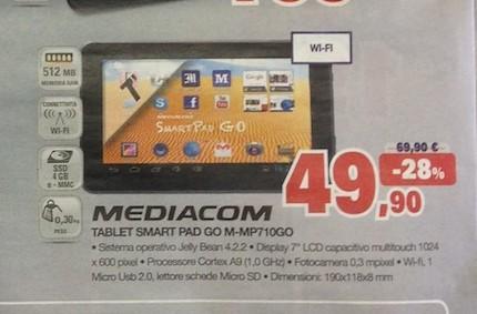 In offerta il Mediacom Smartpad 710Go a 49.90 euro per tutto il mese di marzo