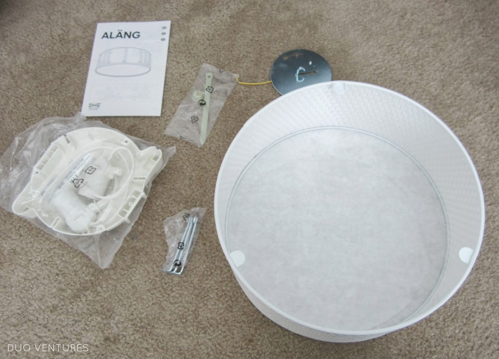 Duo Ventures: How to Install: IKEA ALANG Ceiling Lamp