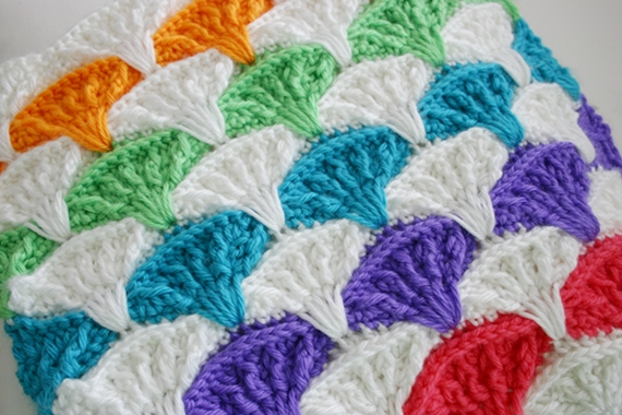 Felted Button Colorful Crochet Patterns Paintbrush Pillow Cover