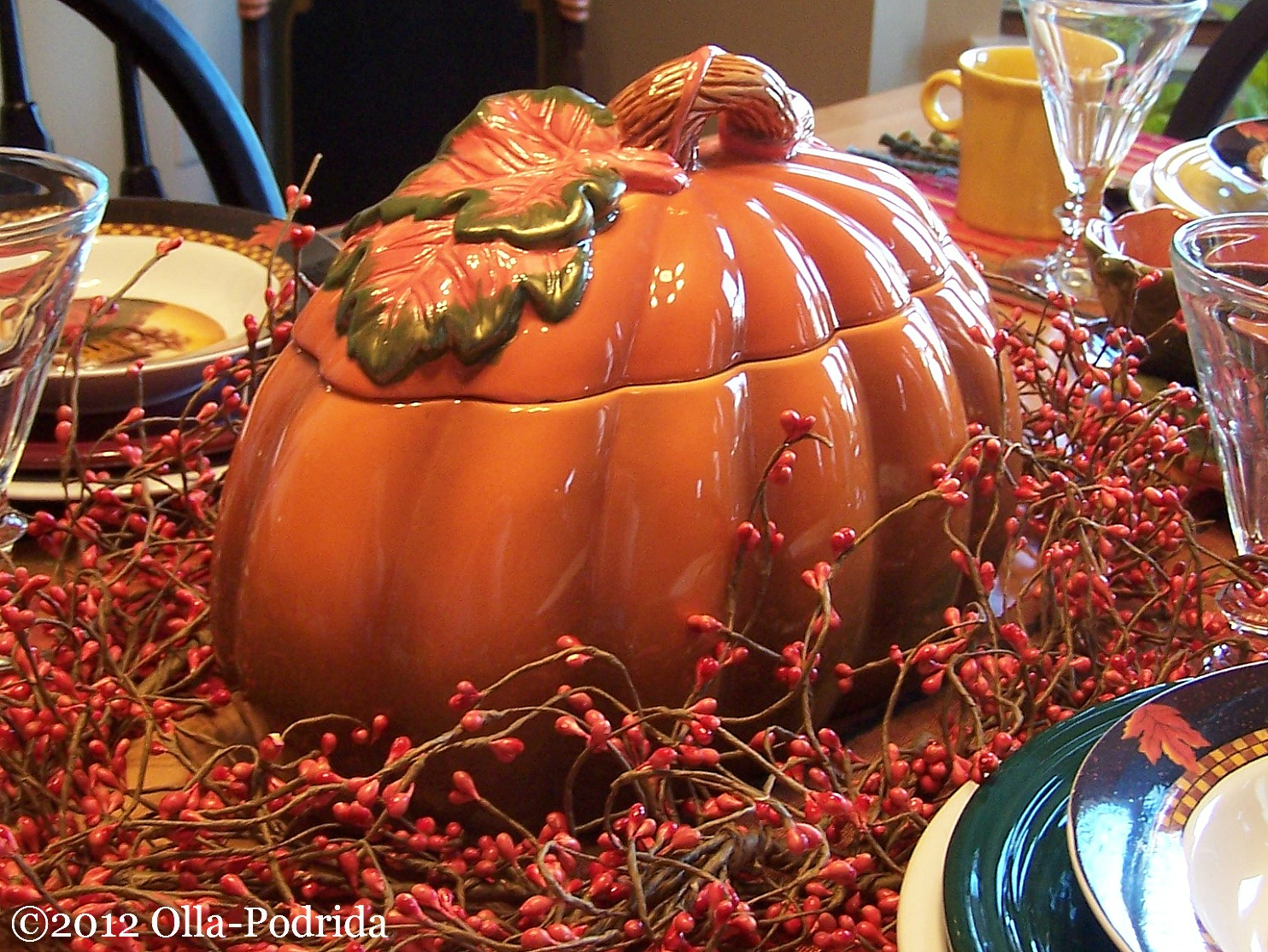 Wednesday October 17 2012 & Olla-Podrida: Autumn Harvest Table Setting