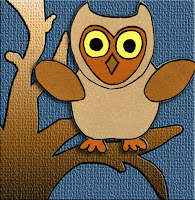 eri*doodle Paper Piecing owl in browns and yellows free template