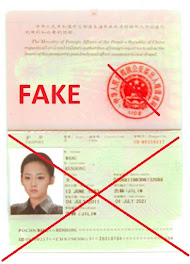 Fake  Chinese ID, used in SCAM