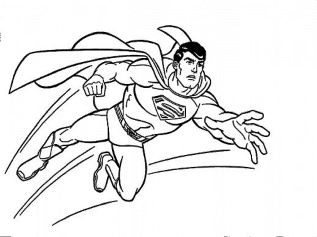 Kids page superman coloring pages for Super man coloring page