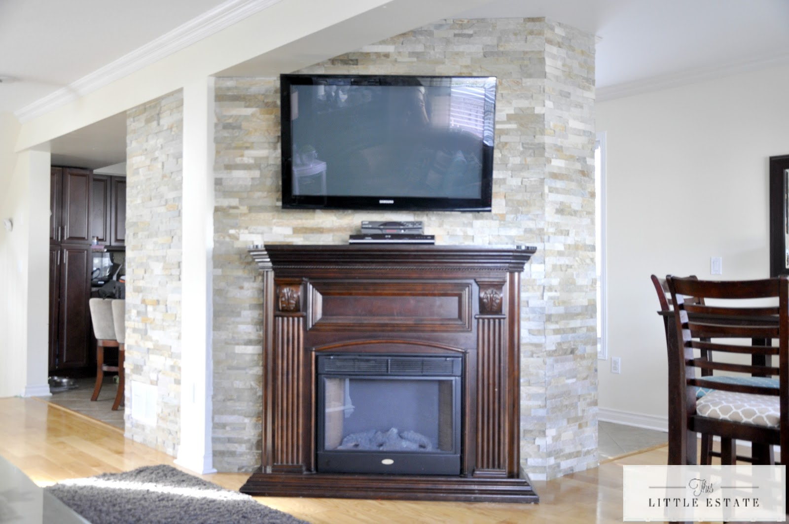 stone feature wall tutorial with pictures this little estate