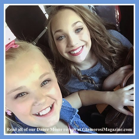 JoJo Siwa and Maddie Ziegler, stars of Dance Moms on Lifetime