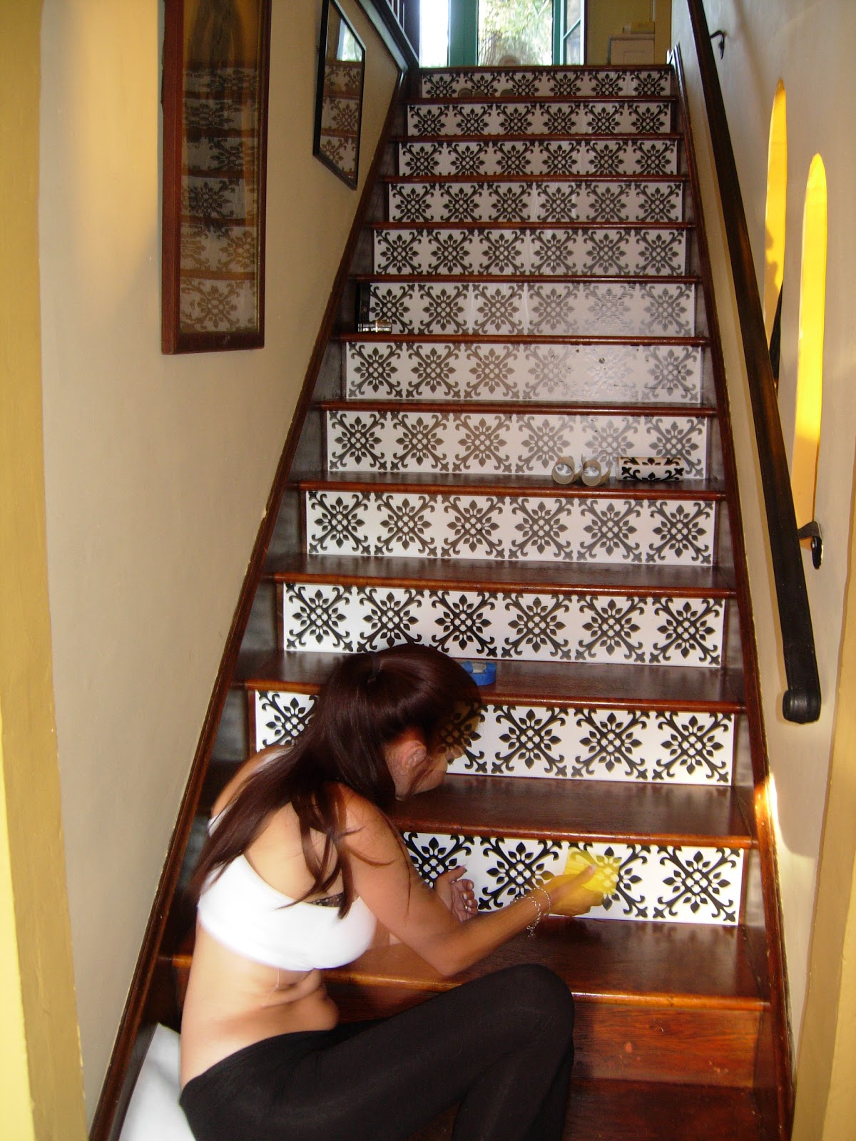 Brandy Spears - Floral Designer: Staircase Redo In The ...