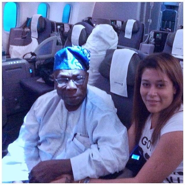 Adunni Ade and Former President Olusegun Obasanjo