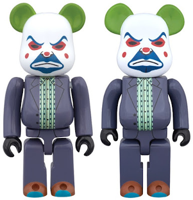 The Dark Knight Bank Robber Edition The Joker 100% & 400% Be@rbrick Vinyl Figures by Medicom