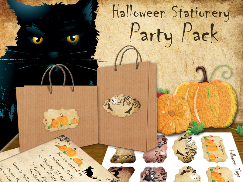 Printable Halloween Stationery Party Pack