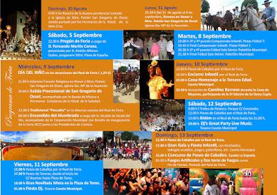 Alcalá del Río - Feria 2015 - Programa