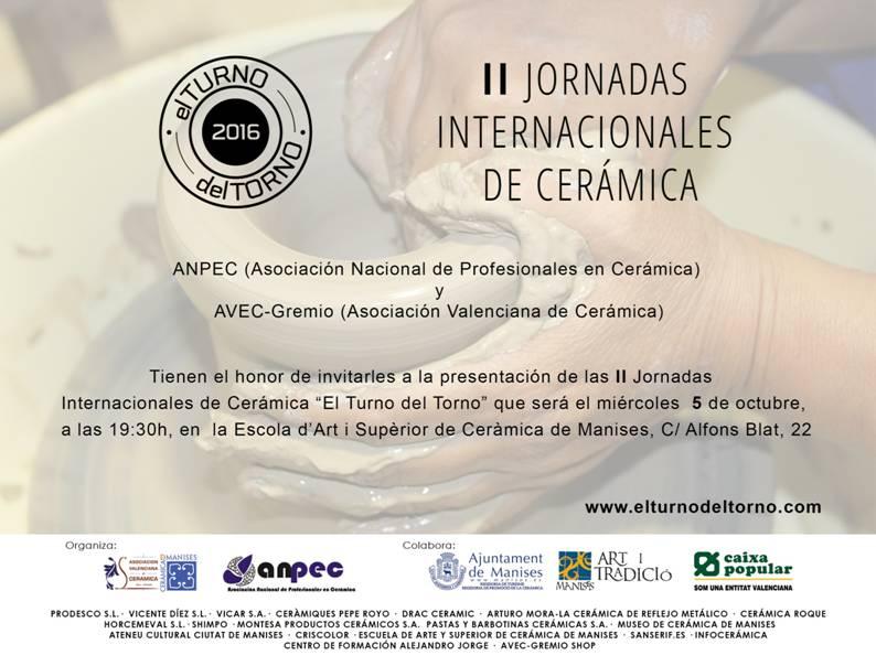 05.10.16 II JORNADAS INTER- NACIONALES DE CERÁMICA
