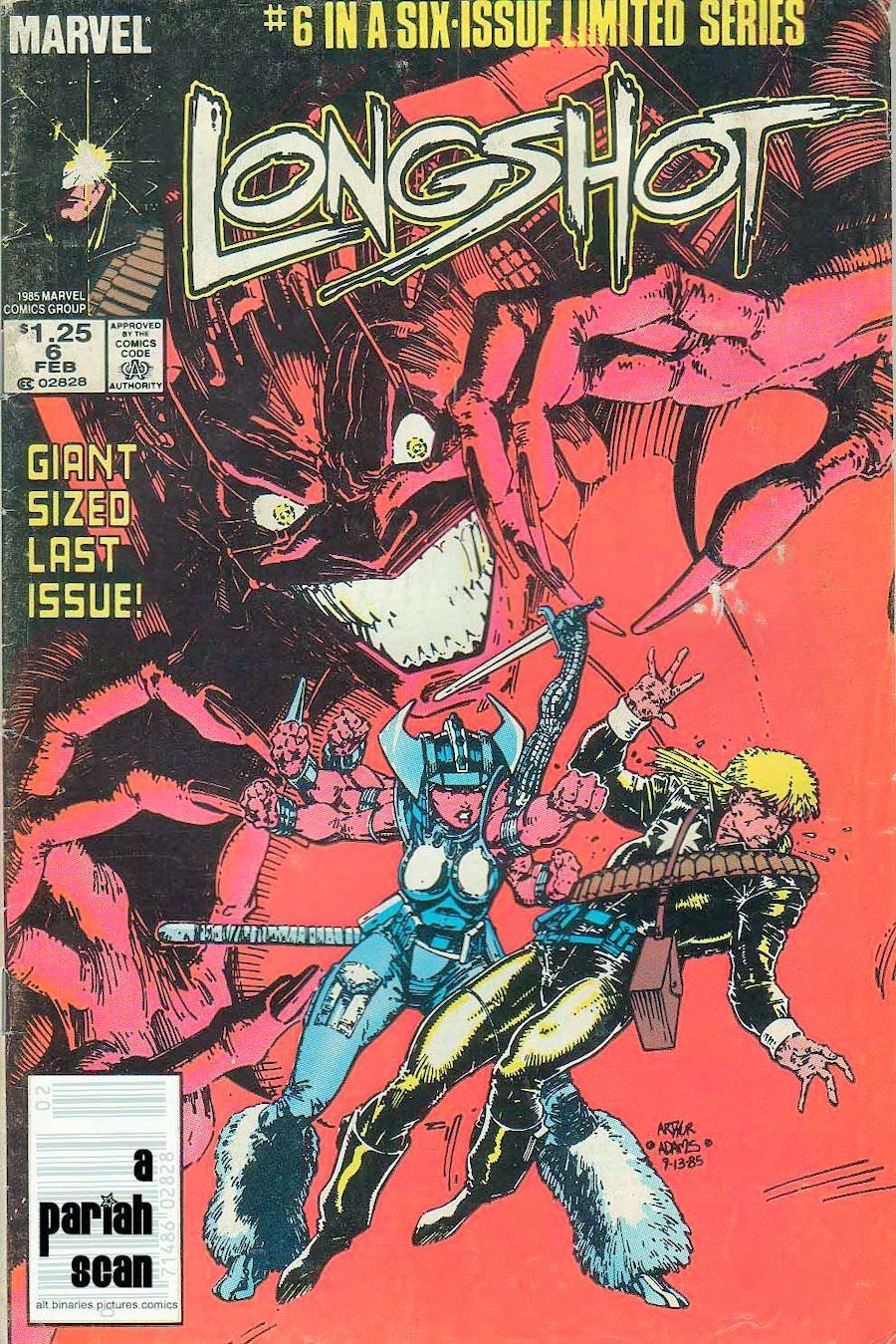 Quadrinhos - Longshot  - Marvel