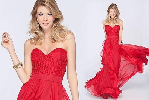 Vestido para formatura vermelho
