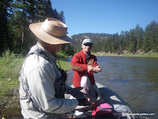 Dr. Fauci fishes the Blackfoot River with Wapiti Waters