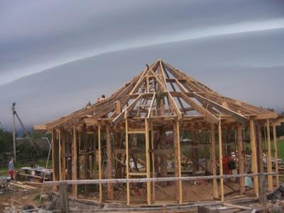 Деревянный каркас для дома с утеплением соломой в Минске