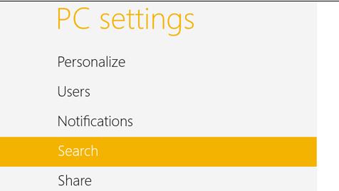 Cách xóa và vô hiệu hóa lịch sử tìm kiếm trong Windows 8