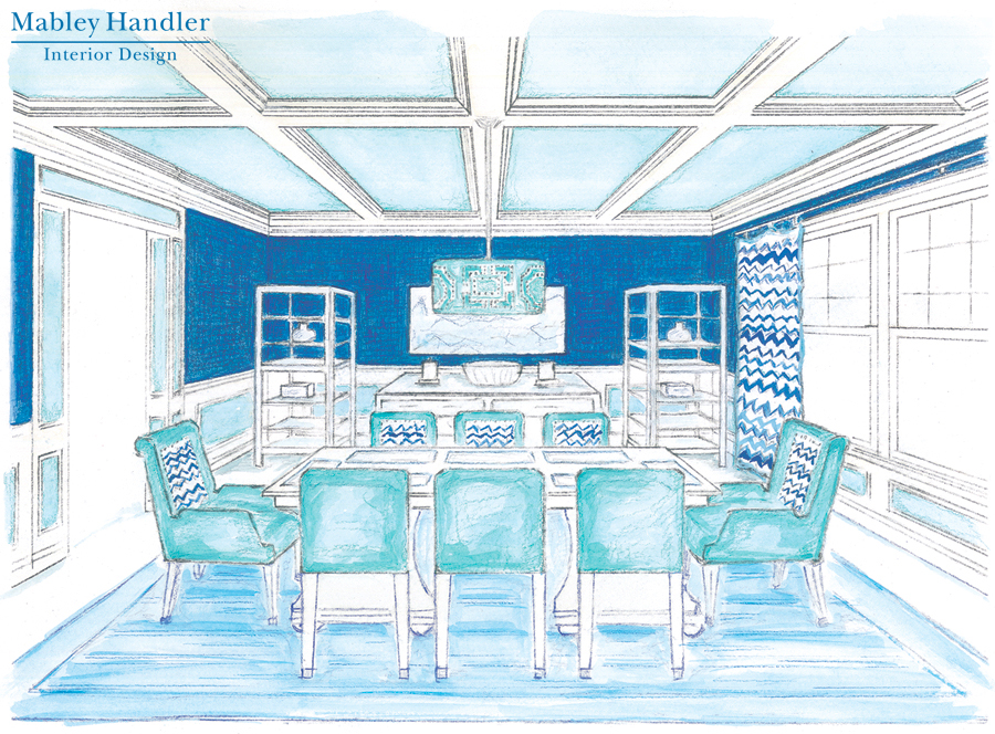 Designing the Hamptons: Beach House Dining Room by Mabley Handler