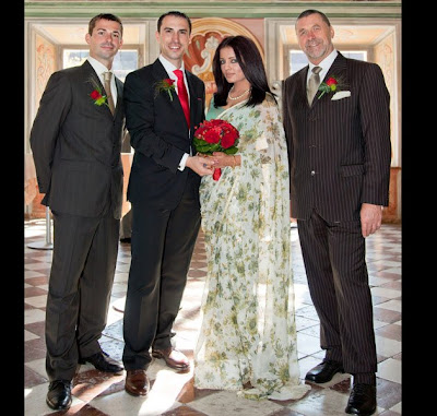 marriage photos of celina jaitley and peter haag wedding