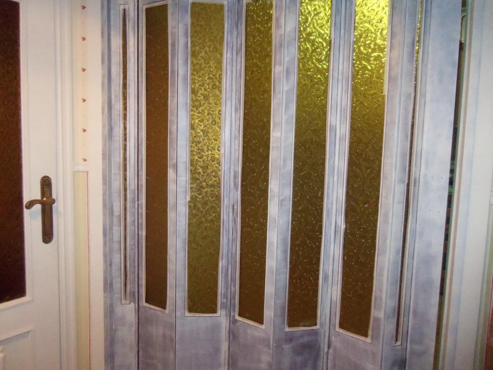 P xaros en la cabeza puerta corredera pintada - Pintar cristales de puertas ...