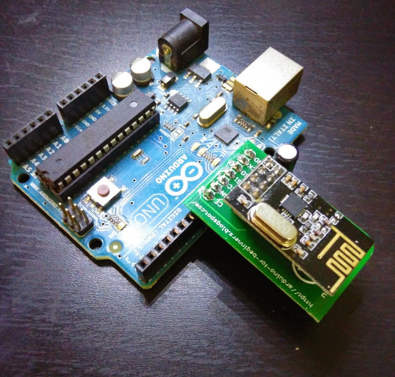 Arduino for beginners uno nrf adapter